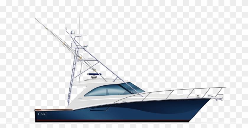 Cabo Yachts Boat Png.