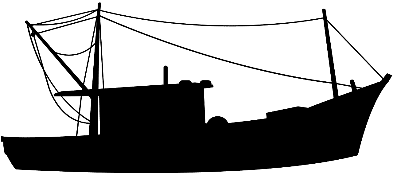 Fishing Boat silhouette.
