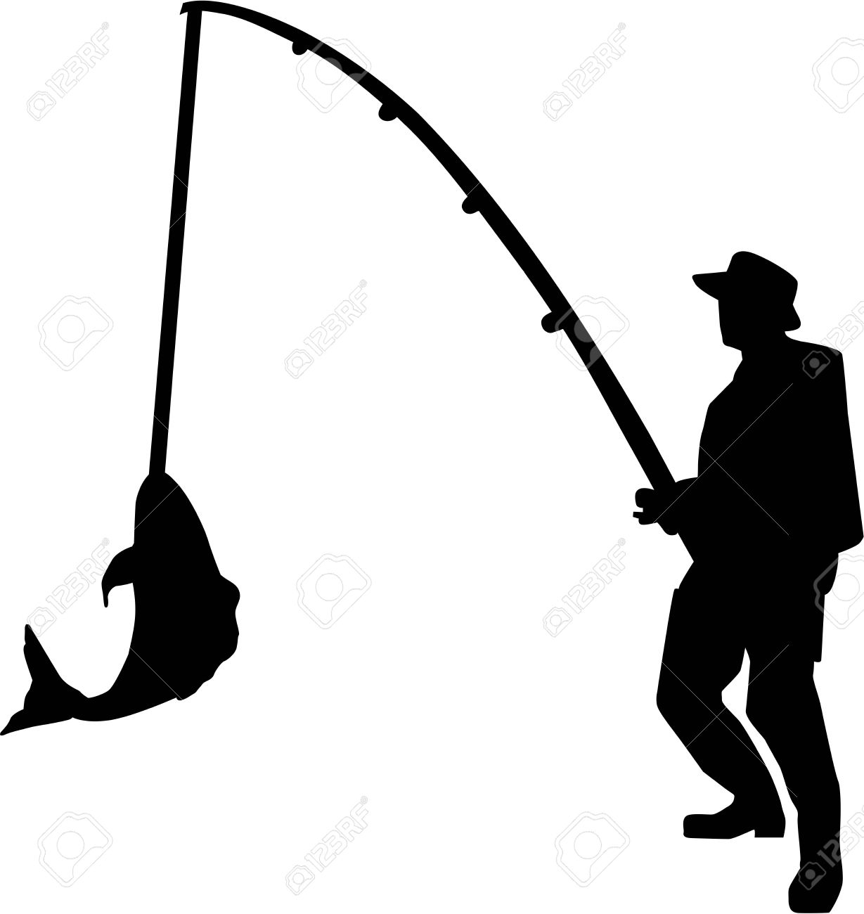 718 Fisherman free clipart.