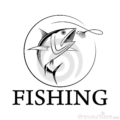 Vector Fishing Tuna Stock Vector.