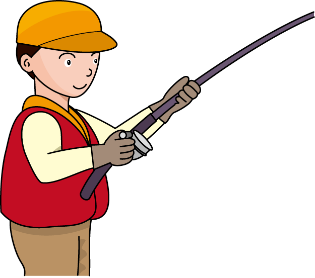 Fishing pole fishing rod and reel clipart kid image 2.