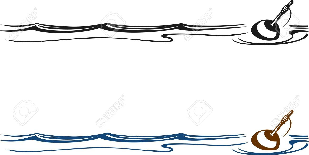 Fishing Float In Water On White Royalty Free Cliparts, Vectors.
