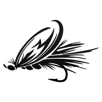 fly fishing window decals.