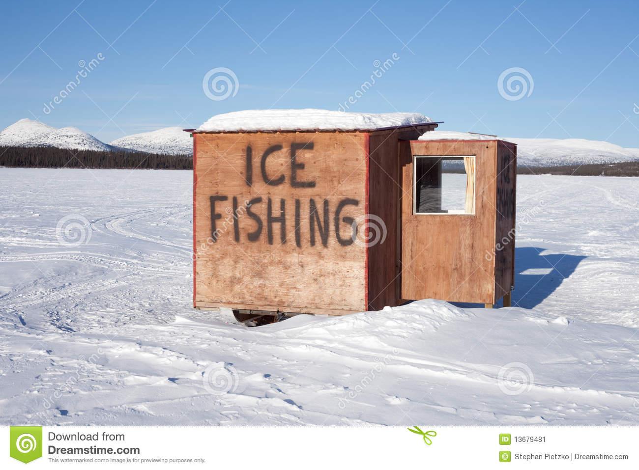 Ice Fishing Hut Stock Image.