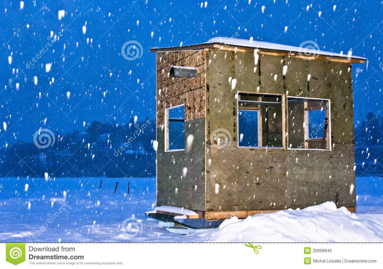 Ice Fishing Hut Stock Photos, Images, & Pictures.