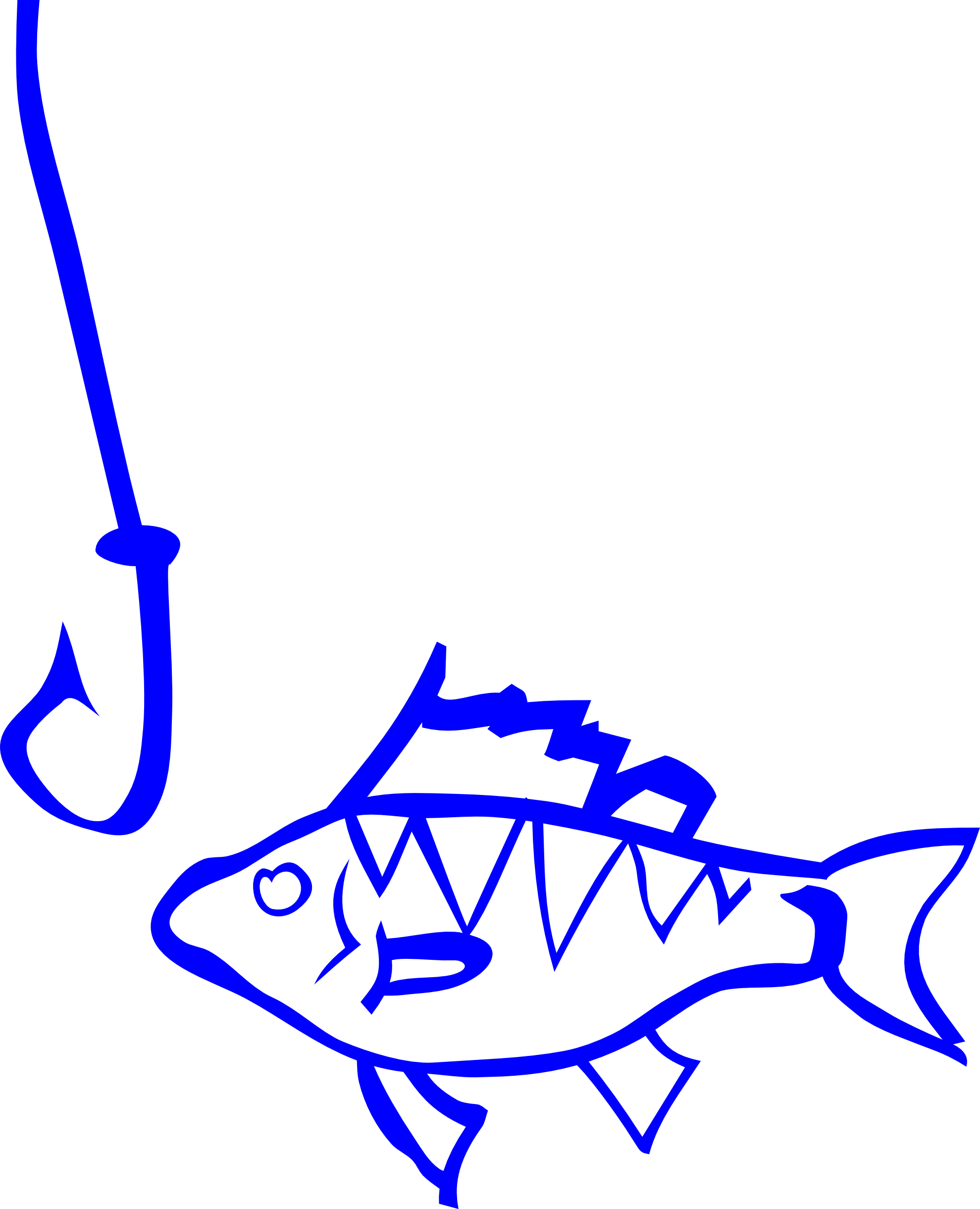 Fishing Hook And Line Clipart.