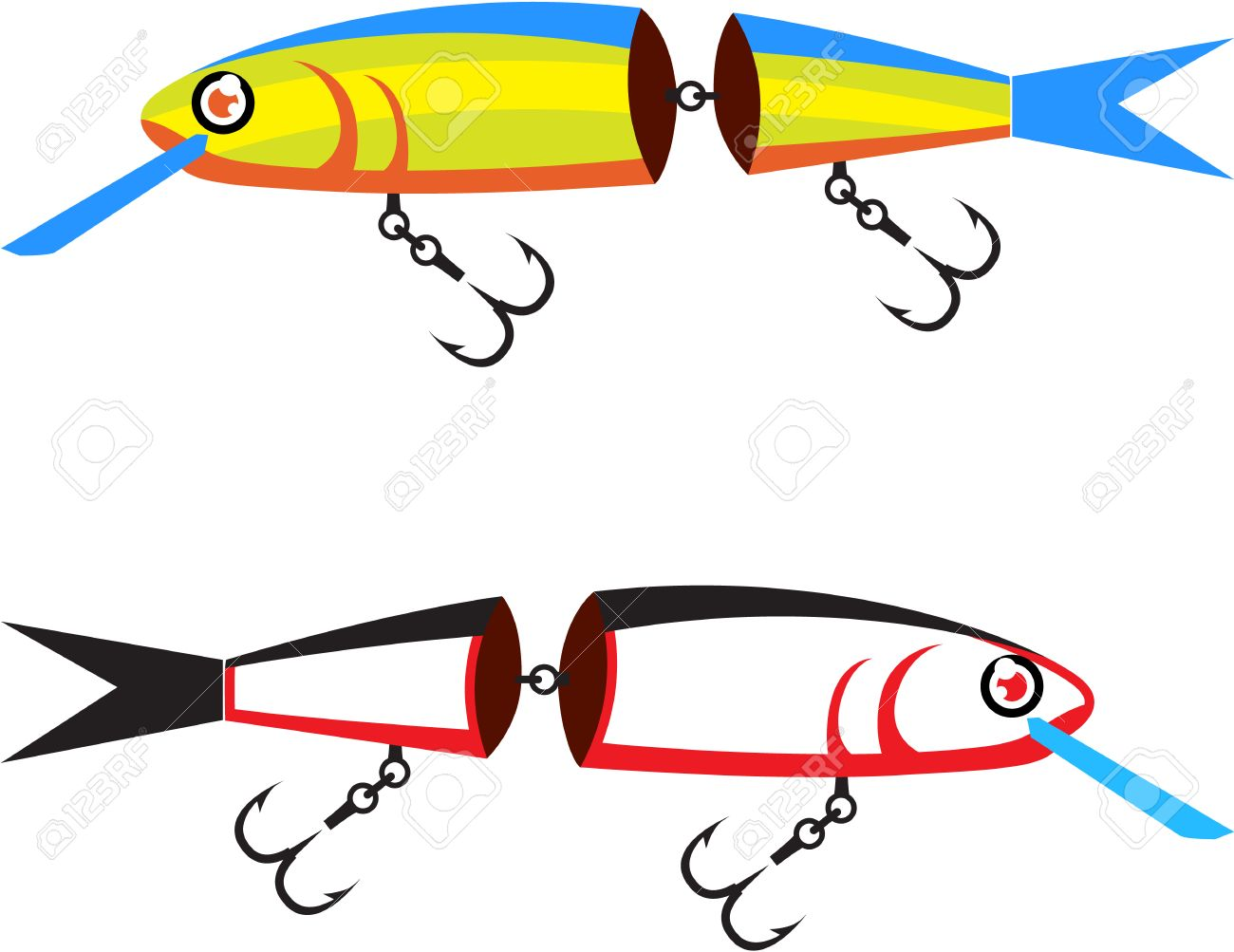 Fishing lure crank bait illustration clip.