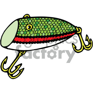 fishing lure 002 vector image clipart. Royalty.