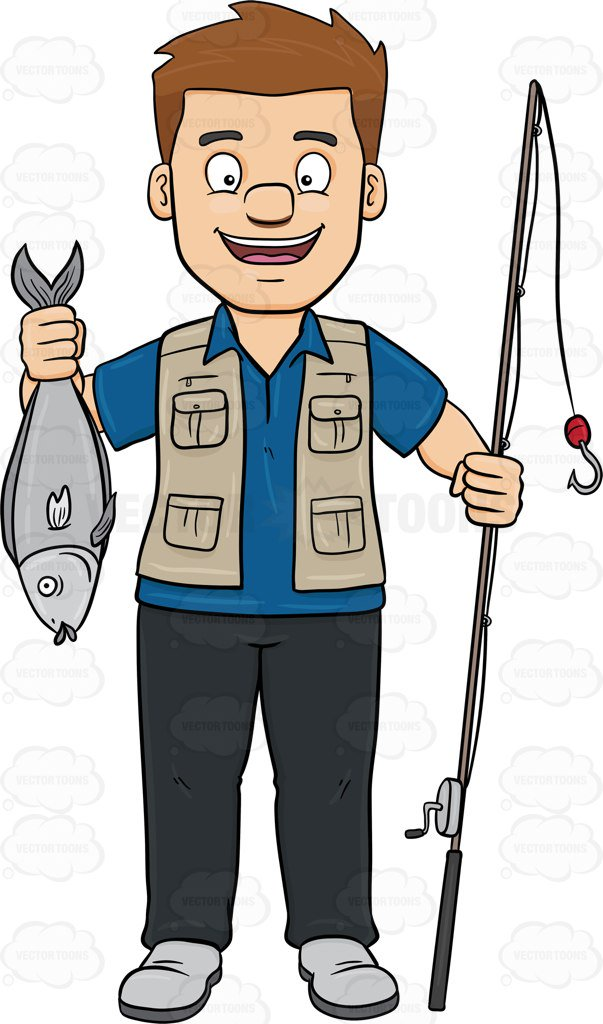 Fishing Man Clipart.