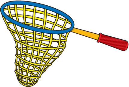 Fishing net clip art.