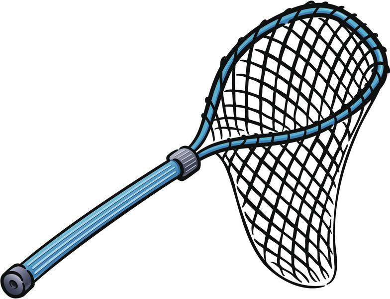 Free clip art fishing net.