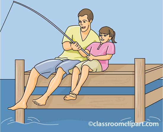 Pier Fishing Clip Art.