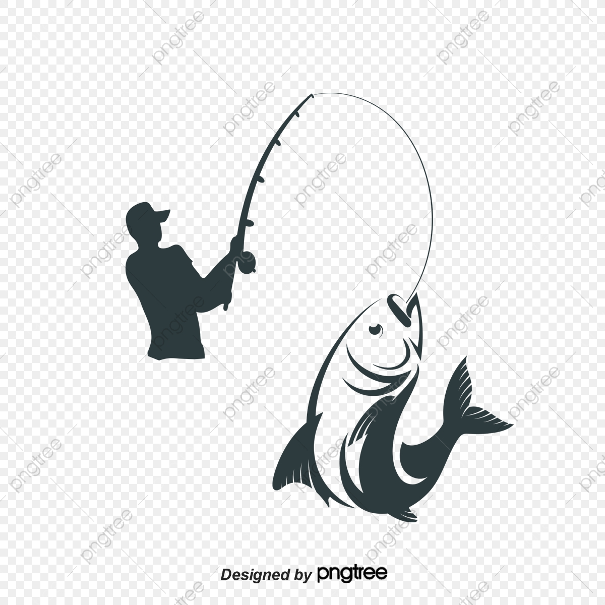 Vector People Fishing, People Vector, People Clipart, Fishing PNG.