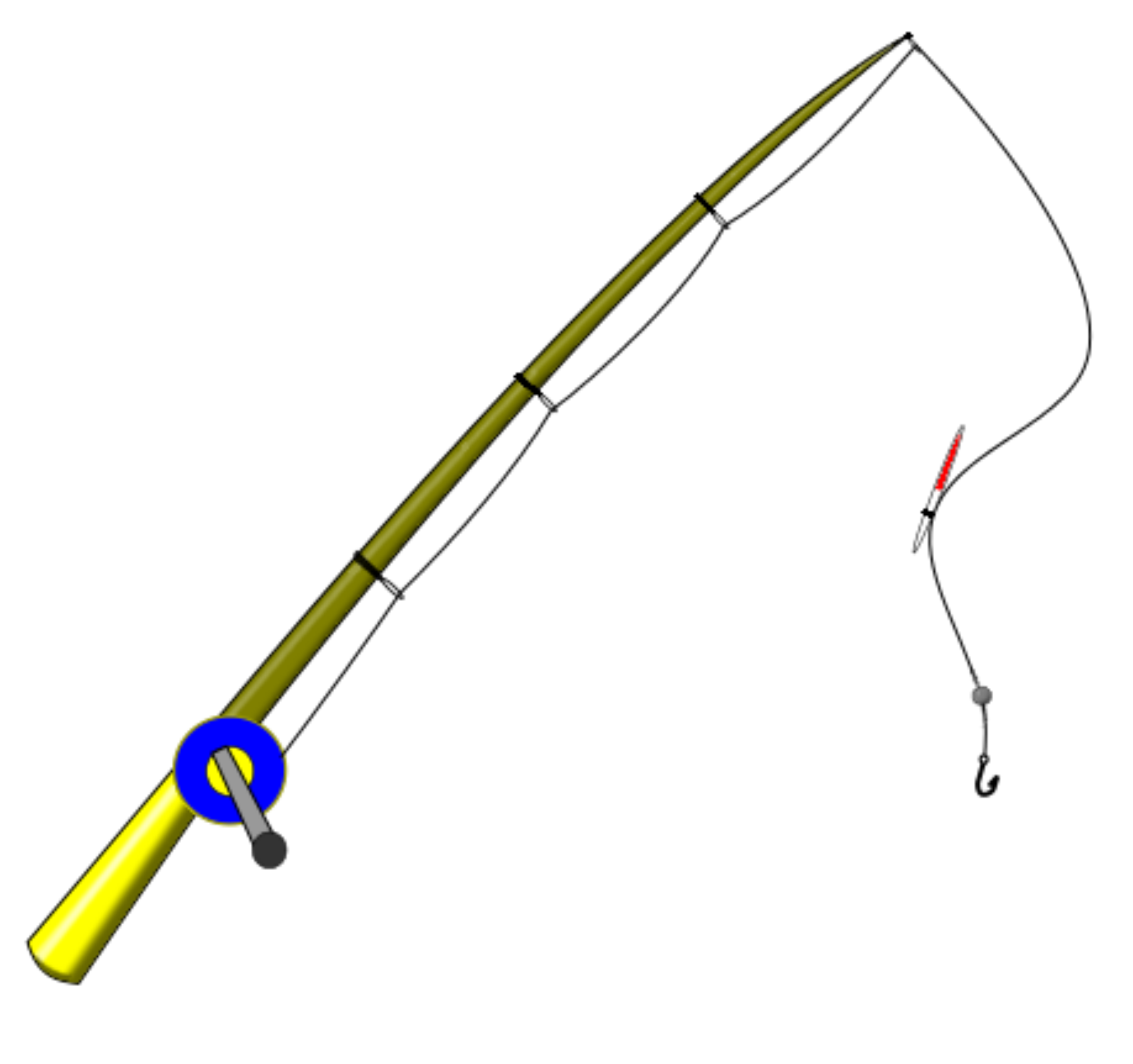 Fishing pole clipart - Clipground