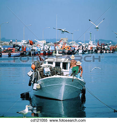 Stock Image of El Grove fishing port. Pontevedra. Spain cd121055.