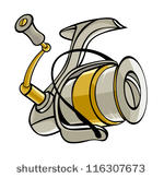 Fishing Reel Free Vector Art.