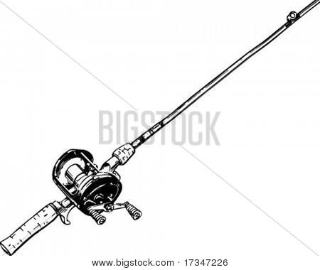 Fishing rod and reel clipart » Clipart Portal.