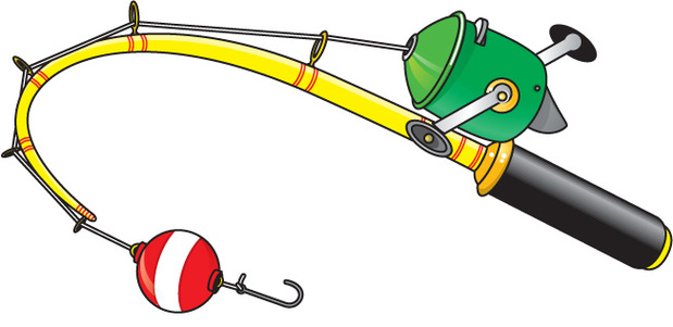 Fishing pole fishing rod clipart hostted image.