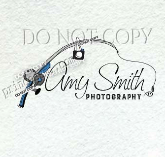 Fishing rod logo fishing logo, photography logo, camera logo.