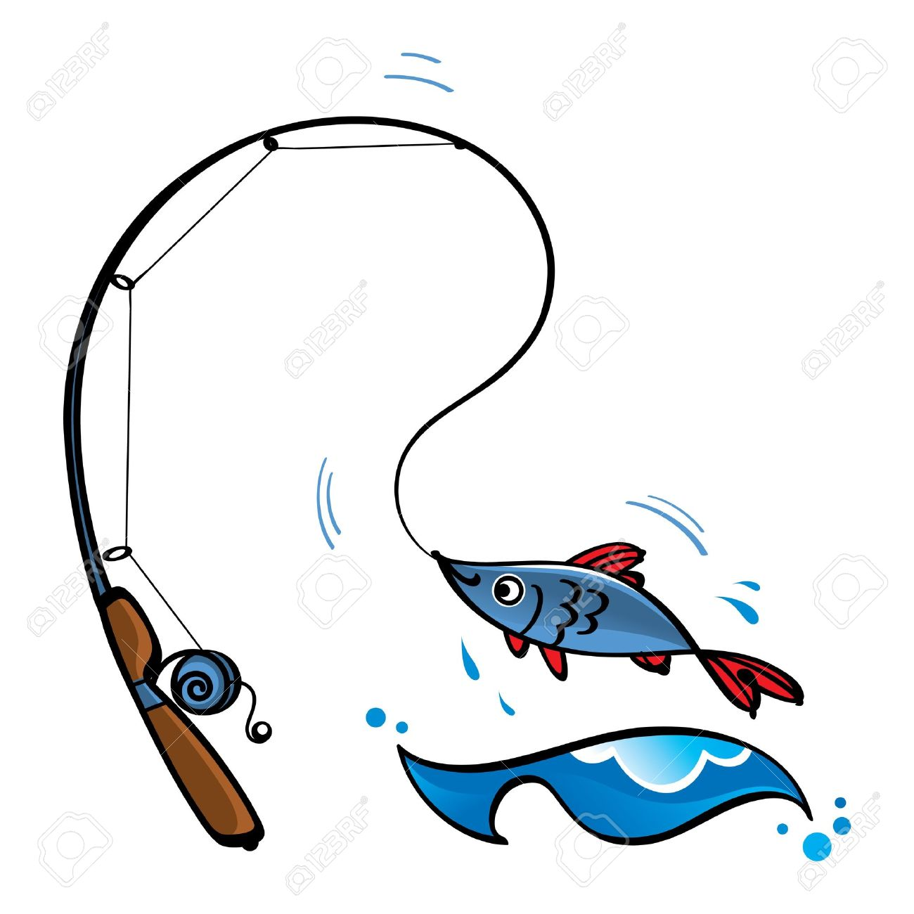 Collection of Fishing rod clipart.