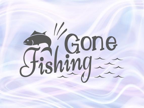 Lake SVG Files for Cricut Sayings Gone Fishing SVG Camp.