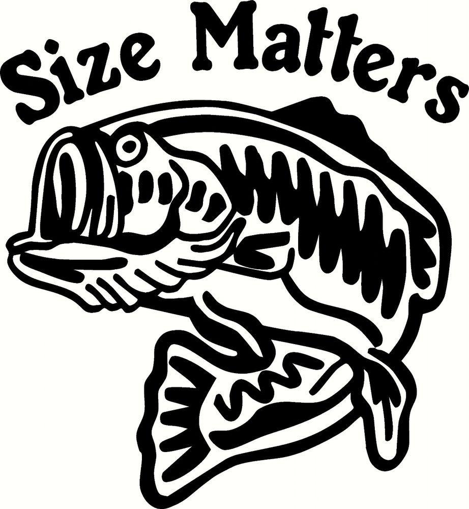 Size Matters Bass decal.