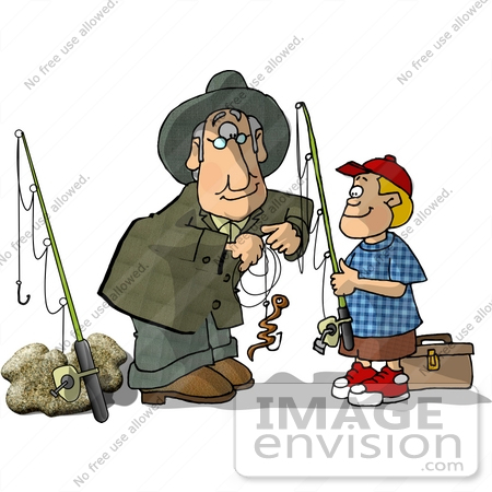 Fishing With Grandpa Clipart.
