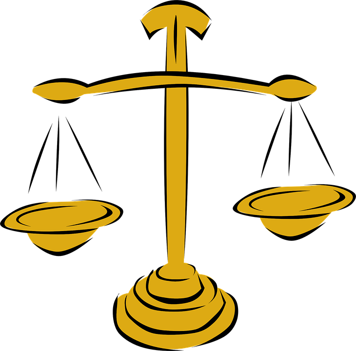 Free photo Scales Justice Gold Weights Measures Balanced.