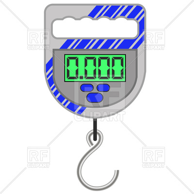Digital portable weighing scale for fishing Vector Image #109867.