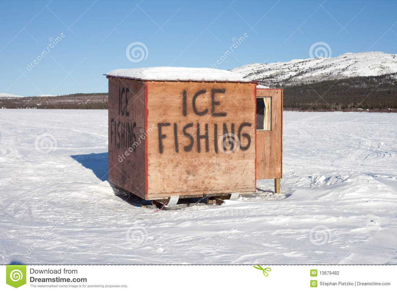 Ice Fishing Shack Stock Photos, Images, & Pictures.