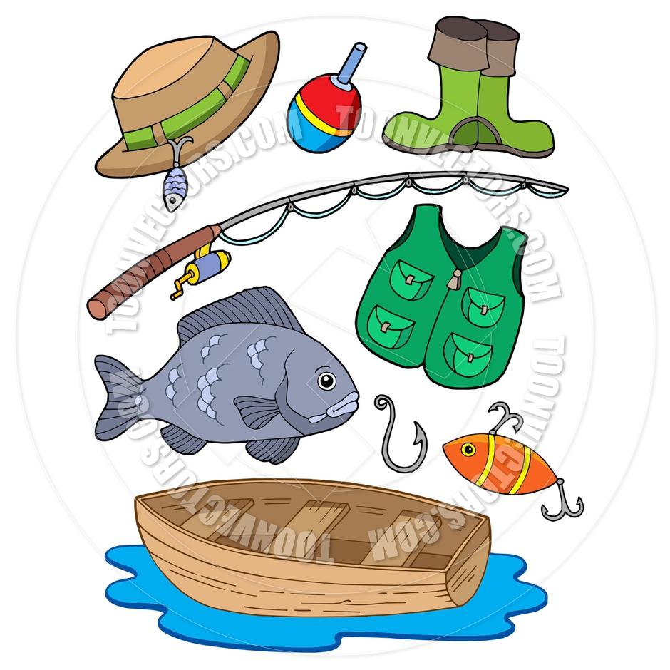 Fishing Equipment Vector.