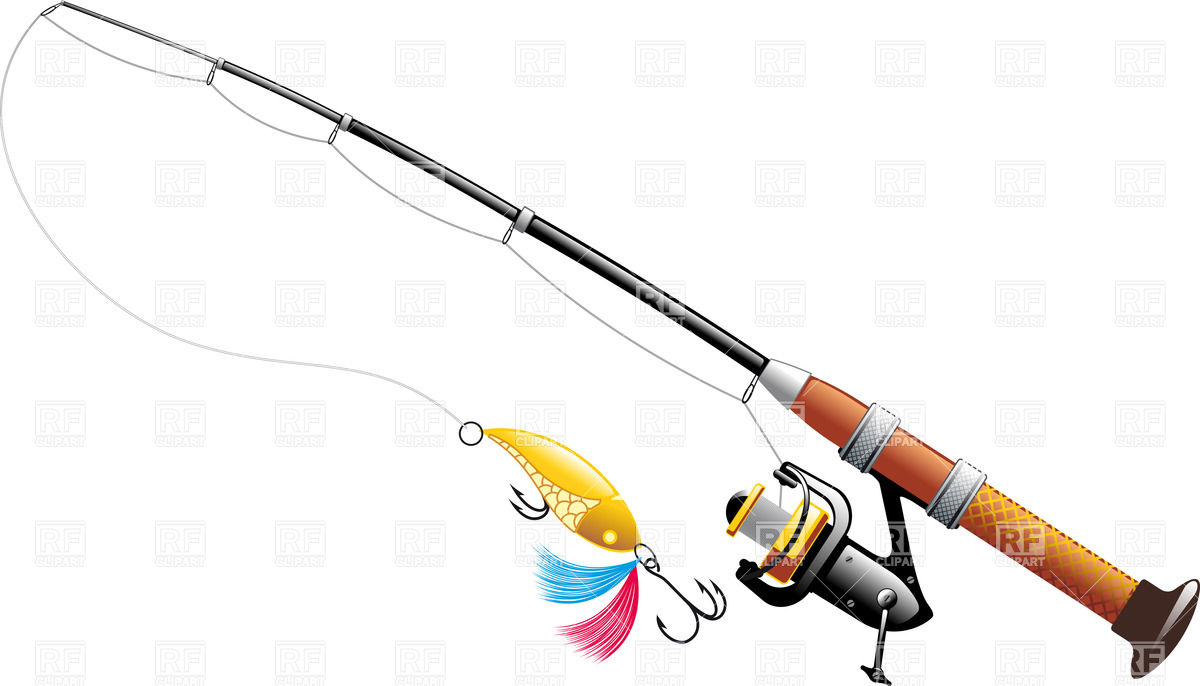Fishing tackle clipart.