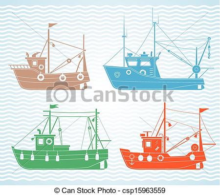 Fishing vessel Clipart Vector Graphics. 1,547 Fishing vessel EPS.