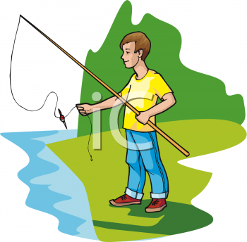 Clip Art Fish Pond Game Clipart.