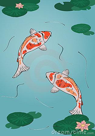 Koi Fish Pond Clipart image tips.