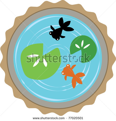 Funny Fish Pond Clipart.