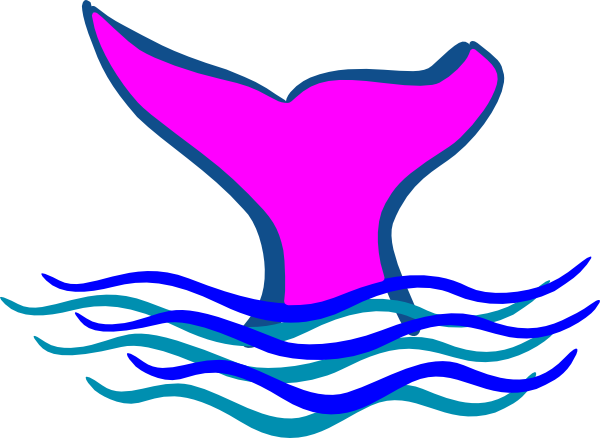 Fish tail fin clipart.