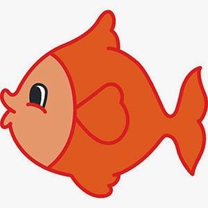 Cute fishy clipart.