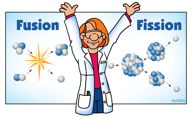 Free Physics Clip Art by Phillip Martin, Fusion and Fission.
