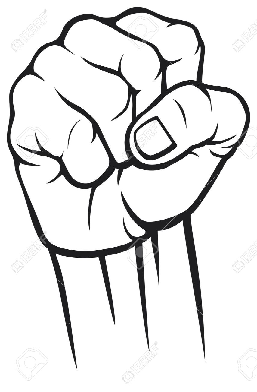 1570 Fist free clipart.