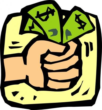 Fist Full Of Money clip art.