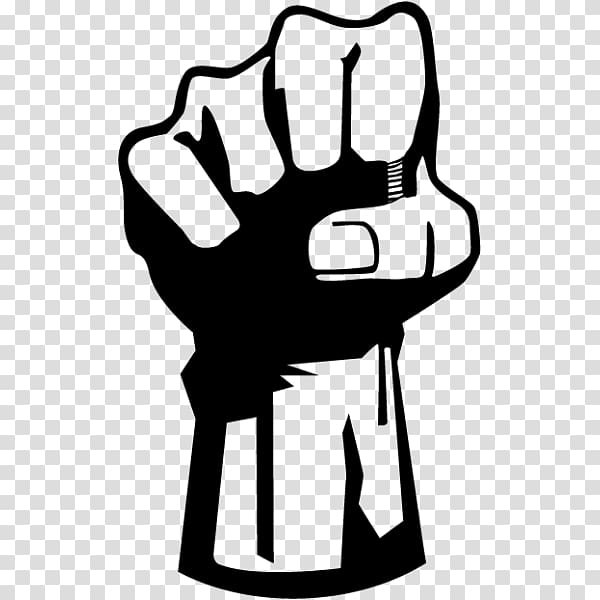 Fist, hand transparent background PNG clipart.