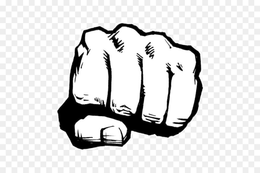 Fist Line Art png download.