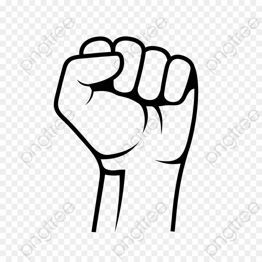 Transparent Hand Fist PNG Raised Fist Clipart download.