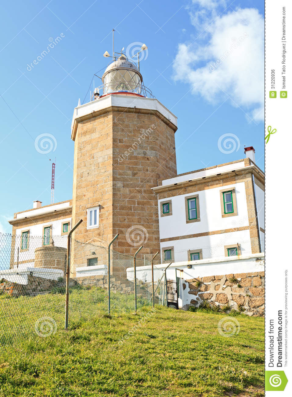 Lighthouse Of Finisterre, Spain Royalty Free Stock Image.