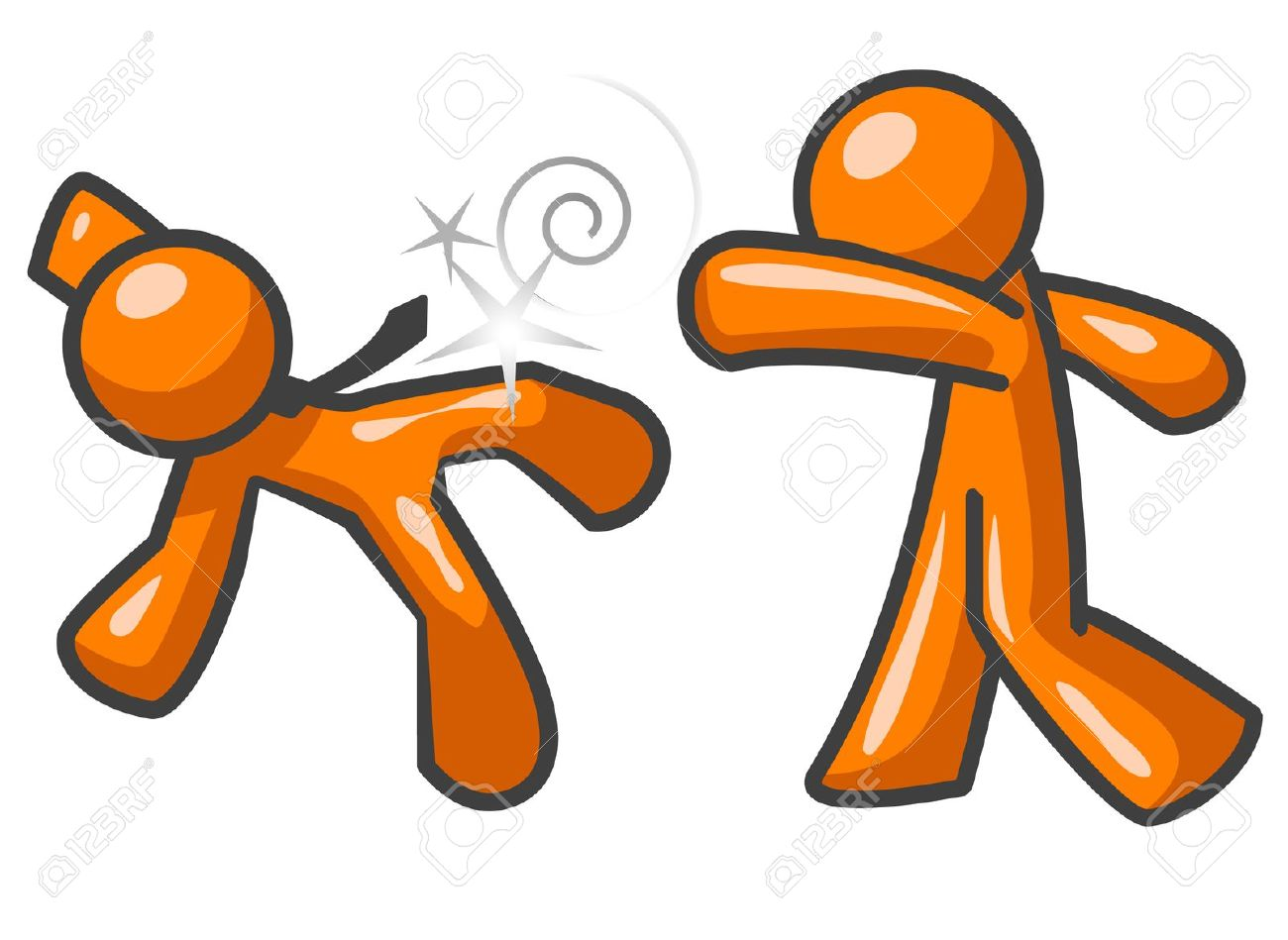 Clipart of two people falling.