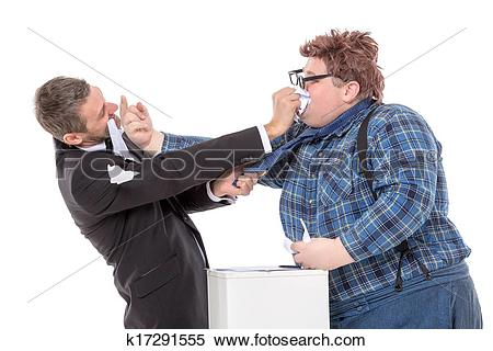 Stock Image of Two men resorting to fisticuffs k17291555.