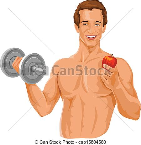 Fit person clipart.
