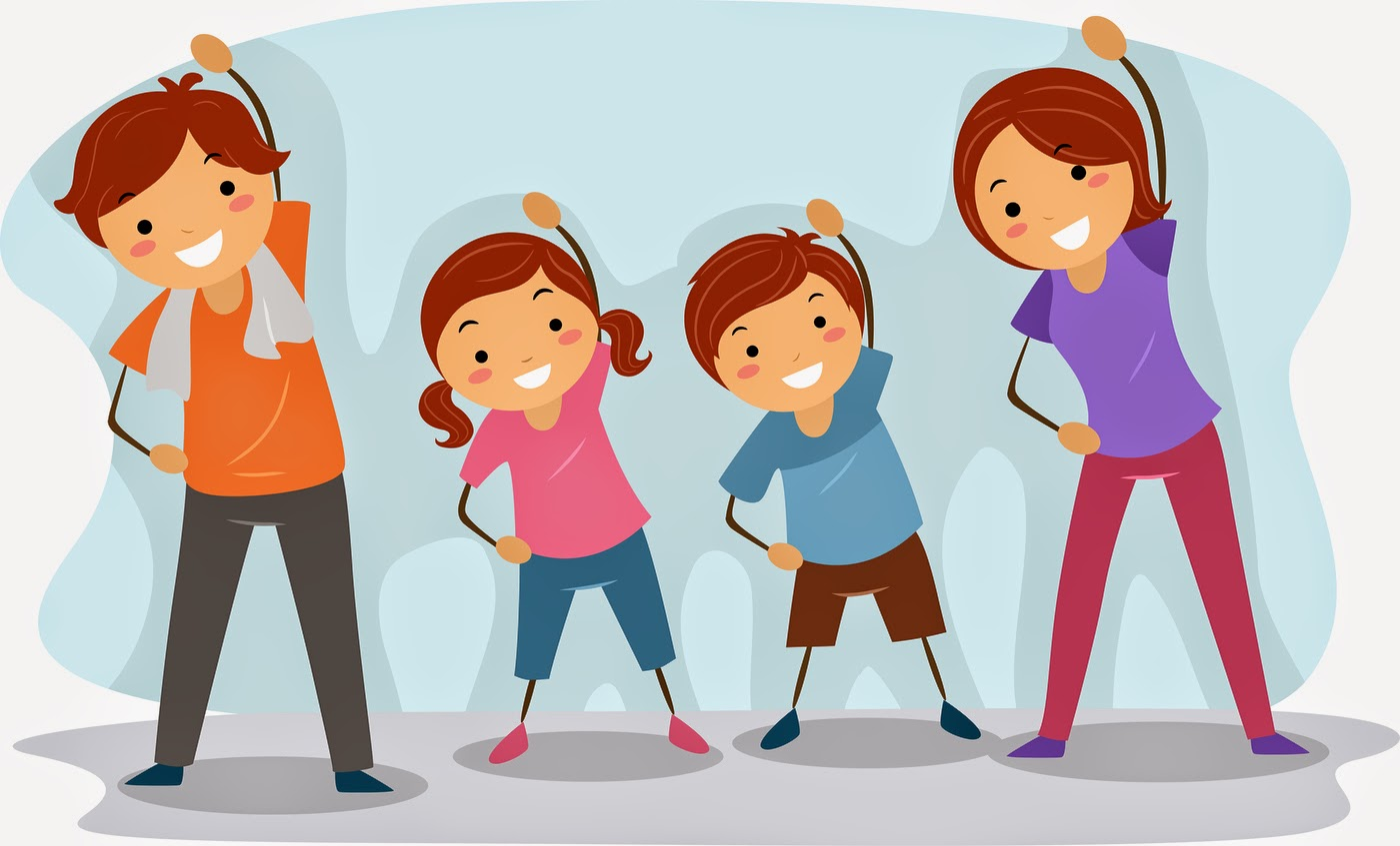 Family fitness clipart.