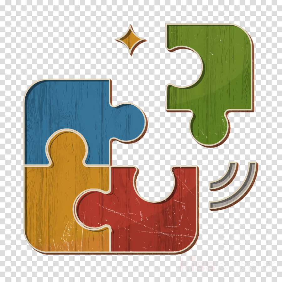 Puzzle icon Fit icon Business icon clipart.